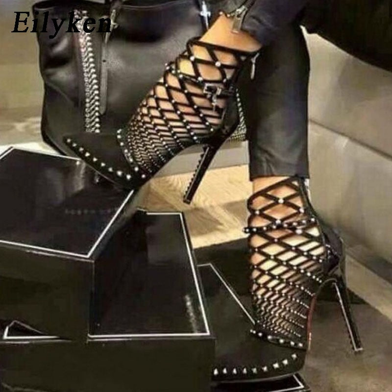 Caged Ankle Boots
