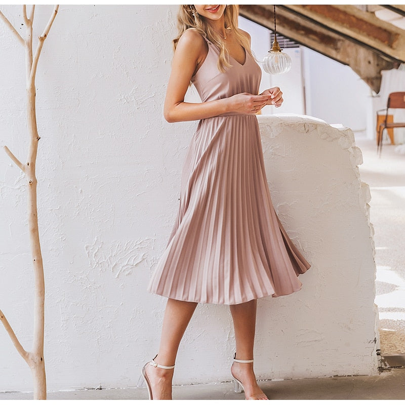 Pleated Spring Dress