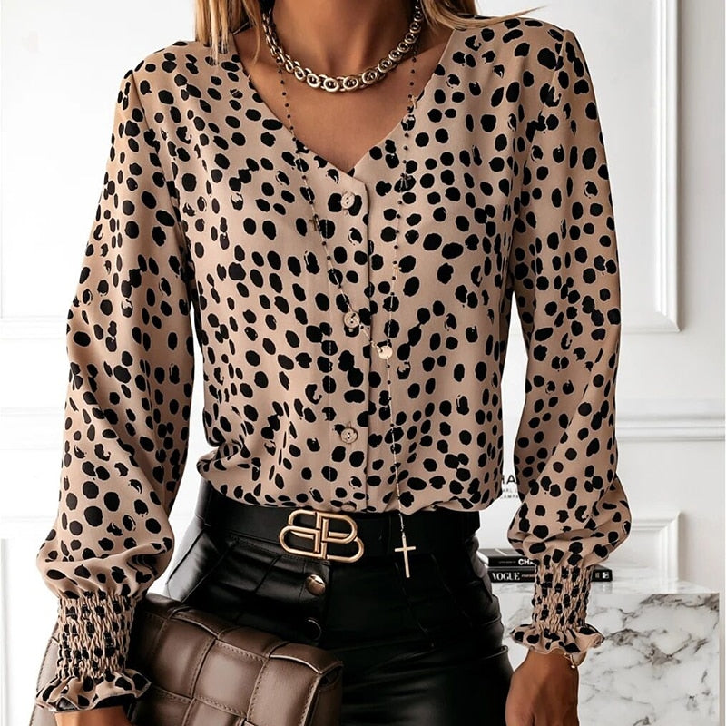 Polka Dot Business Casual Blouse