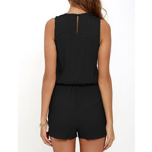 Front Zipper Summer Romper