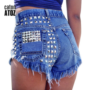 Vintage Ripped High Waisted Denim Jean Shorts