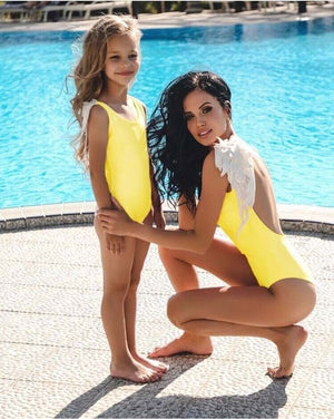 Angel Wings Mother & Daughter Matching One Piece Swimsuit