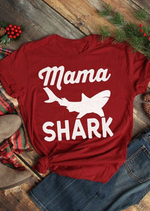Mama Shark Short Sleeve T-Shirt