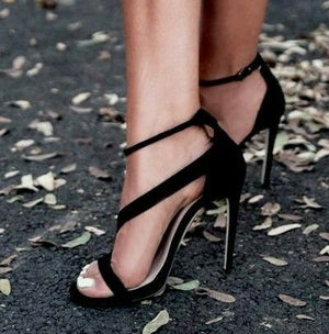 Aneikeh Strappy Black High Heels