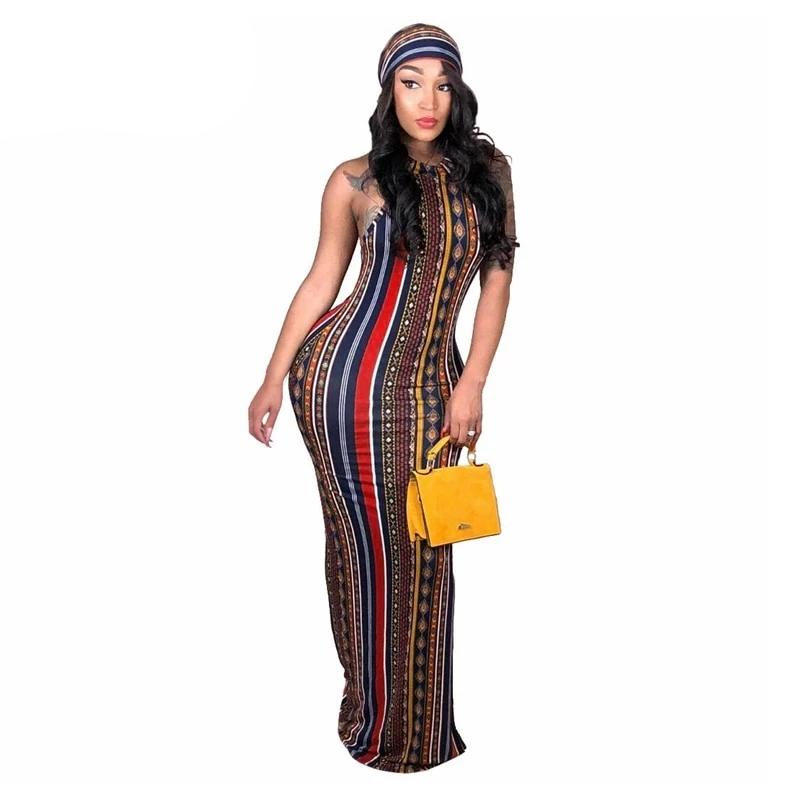 Striped Vintage Bohemian Dress