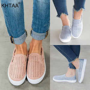 Slip On Shallow Loafers Vulcanized Flat Shoes