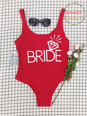 BRIDE Bachelorette Swimsuit One Piece