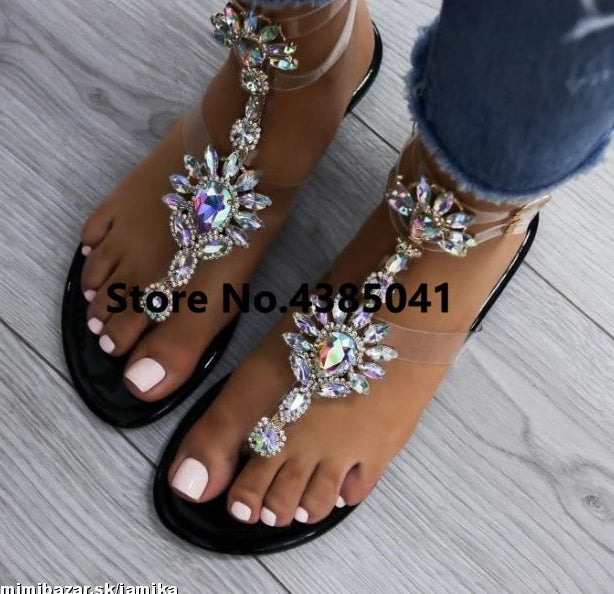 Rhinestones Chains Sandals
