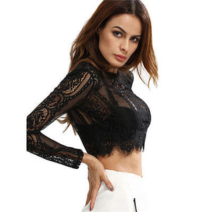 Lacey Black Crop Top