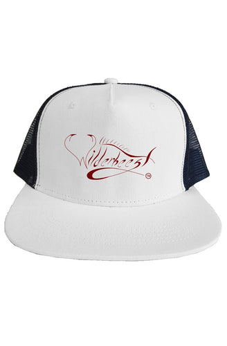 White Wilderbeest SnapBack Trucker Hat - WilderBeestGnu