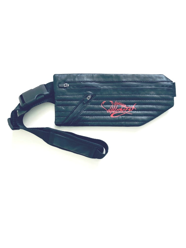Leather Fanny Pack Low Profile w/ Zipper - WilderBeestGnu