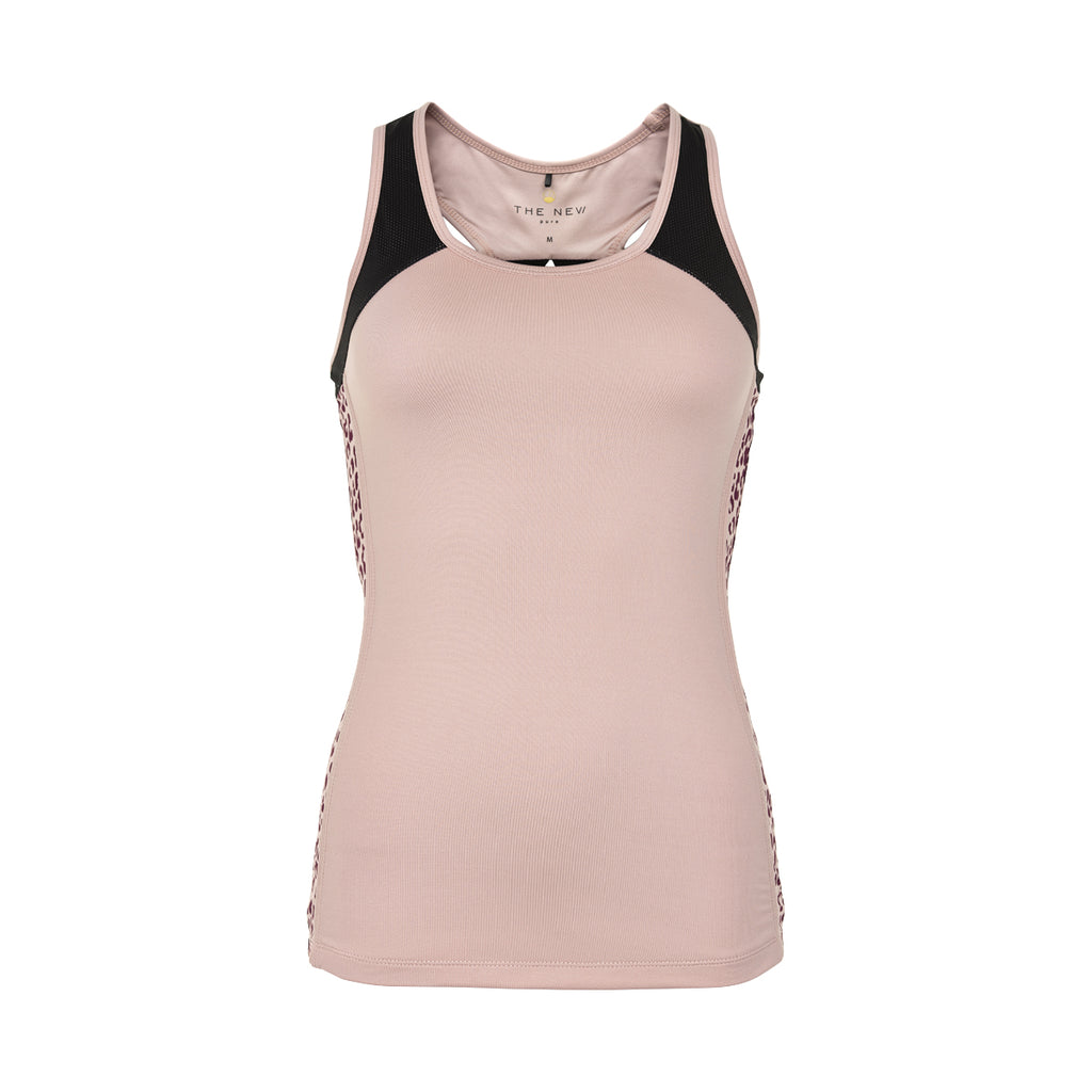 THE NEW PURE PURE LEO BLOCK TANKTOP W TANKTOP ADOBE ROSE