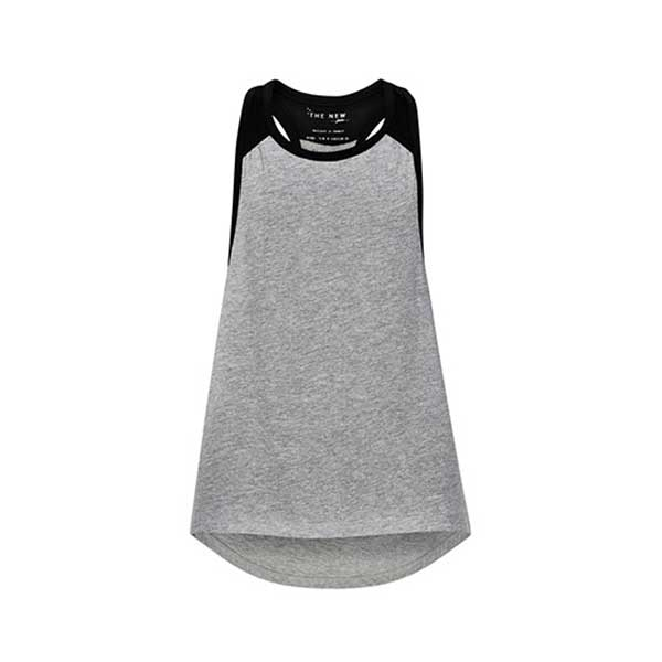 THE NEW PURE PURE LOOSE TANK TOP TANKTOP LIGHT GREY MELANGE