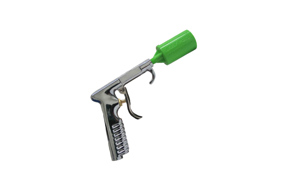 PURE chrome plated air gun with PURE Green Attachment