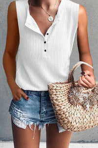 Casual Round Neck Sleeveless T-Shirt