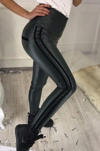 Ladies Sexy PU Skinny Leather Pants
