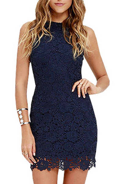 Lace Halter Sleeveless Bodycon Dresses
