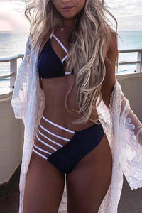Spaghetti Strap  Hollow Out Bikini