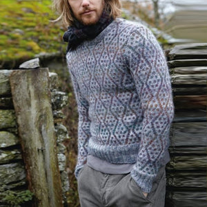 Men's Color Knit Long Sleeve Sweater