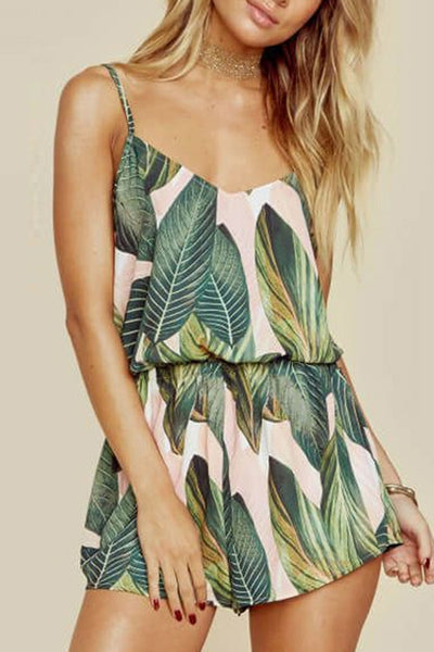Sexy Stylish Floral Print Rompers