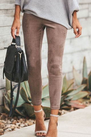 Zipper  Plain   Elegant Pants