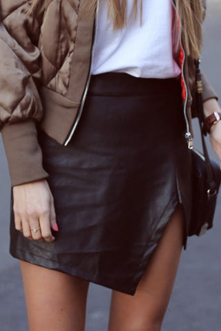 Slit  Plain  Basic Skirts