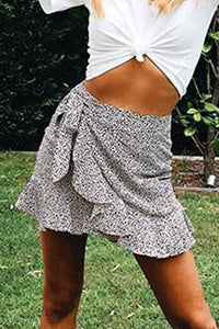 Fitted  Basic  Printed Skirts