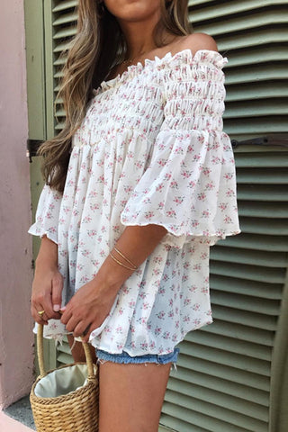 Fashion Shoulder Print T-Shirt