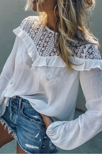 Regular  Sexy  Long Sleeve Shirts & Blouses