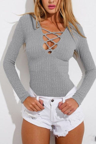 Sexy Ladies Knit Cross - Breasted Sweater