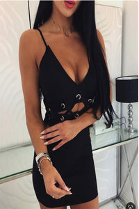 Deep V-Neck Bodycon Dresses