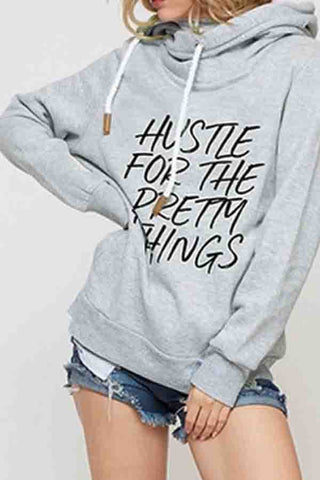 Hooded  Letters  Basic  Hoodies