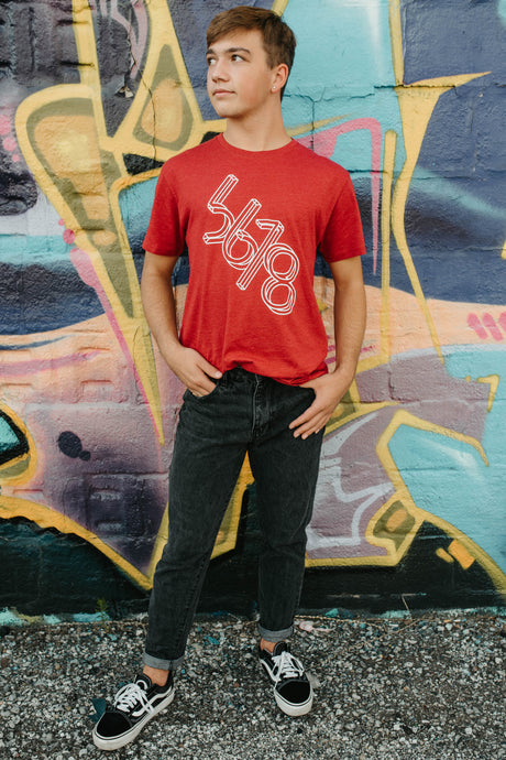 5678 Branded Shirt - Red