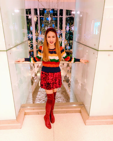 Christmas, Mall, Boots, Red
