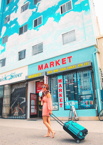 Venice Beach Market and travel girl