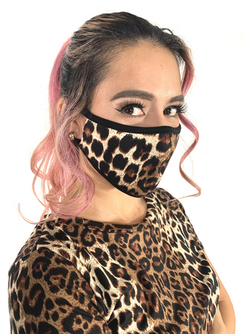 Leopard set with face mask