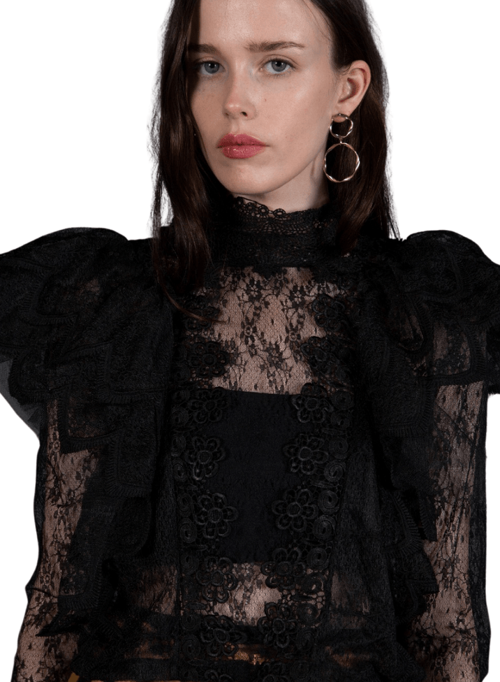 Juliet Lace Black Top