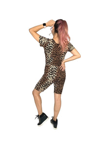 Animal print matching set