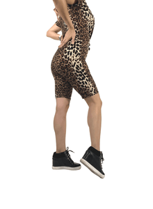 Leopard Animal Print Biker Shorts