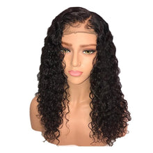 130% Curly Brazilian Lace Front Human Hair Wig With Baby Hair