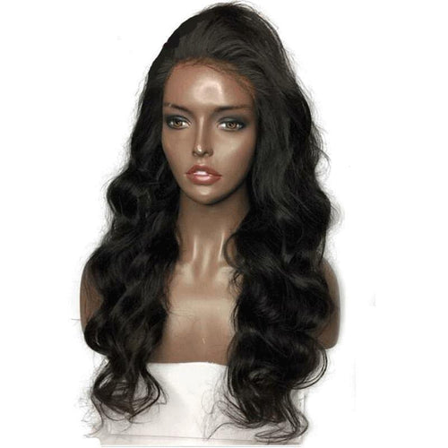 130% Lace Front Body Wave Brazilian Remy Wig With Pre-Plucked Hairline