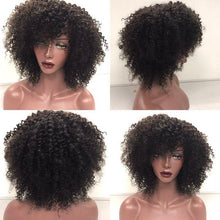 250% Brazilian Kinky Curly Short Remy Hair Wig