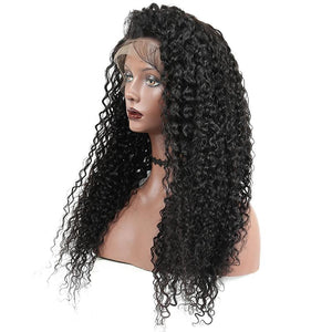 250% Lace Front Brazilian Curly Hair Wig With Bleached Knots