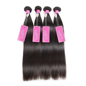 Brazilian Virgin Unprocessed Straight Human Weave Hair 1 Piece Only