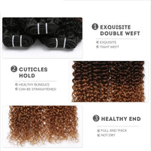 Ombre Brazilian Remy Kinky Curly Weave Human Hair 1 Piece Only