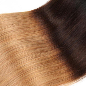 Ombre Brazilian Straight Non-Remy Human Hair Weave 1 Piece Only