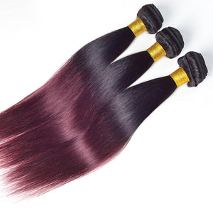 Ombre Brazilian Straight Two Tone Remy Human Hair 1 Piece Only
