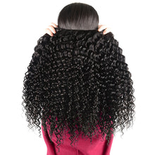 Brazilian Deep Wave Bundles With Lace Closure Non Remy Human Hair