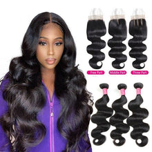 Brazilian Non Remy Body Wave Weave 3 Bundles With Closure