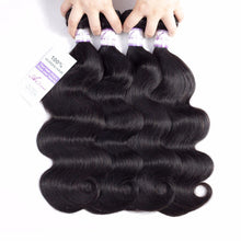 100% Human Brazilian Hair Body Wave Weave Non Remy Natural Color